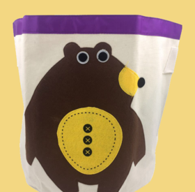 Canvas storage baskets: Bear