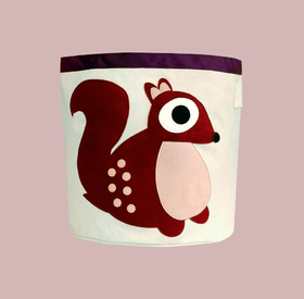 Cotton canvas baskets: Squirrel